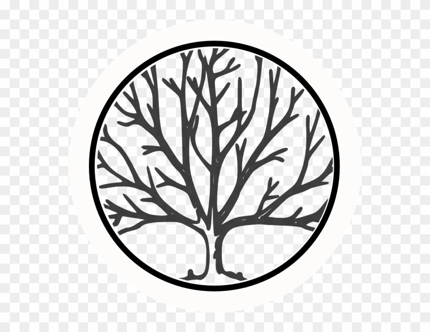 Clipart Transparent Download Black And White Oak Tree.