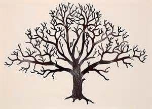 Clip Art Bare Oak Tree.