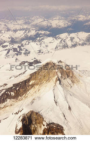 Stock Photography of Aerial view of snow.