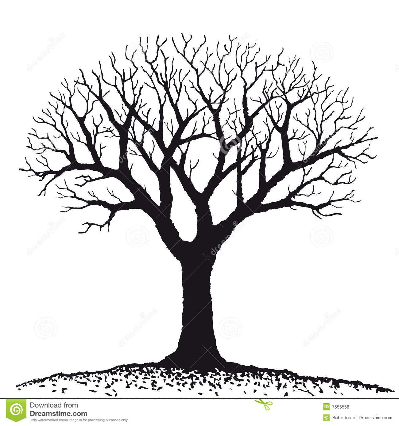 bare tree clipart.