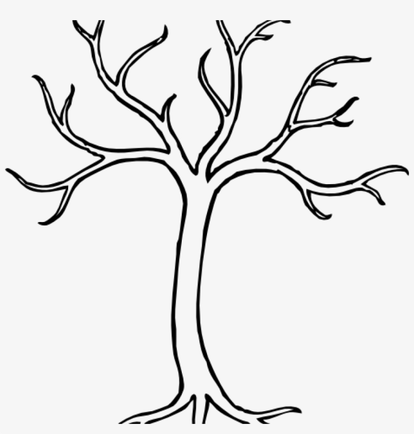 Tree Clipart Black And White Black And White Bare Tree.