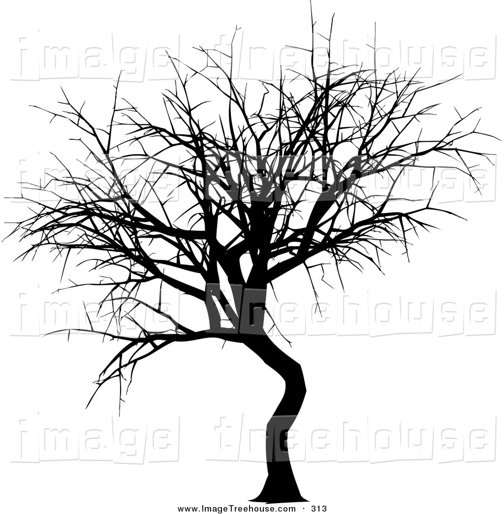 Bare Tree Black And White Clipart.