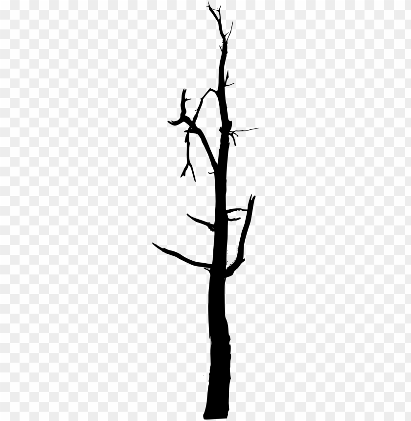 simple bare tree silhouette png.