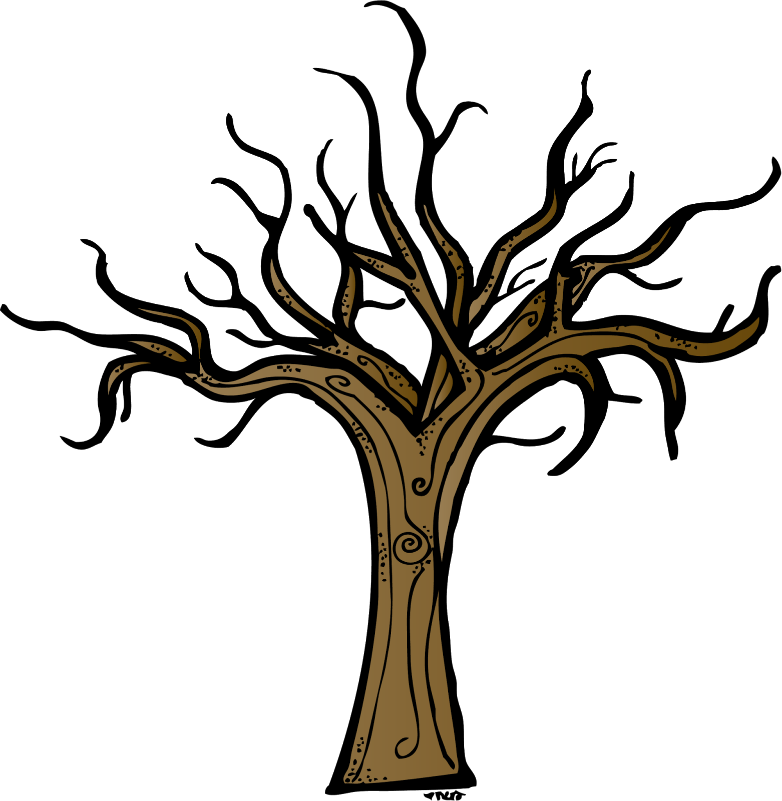 Bare Brown Tree Clipart.