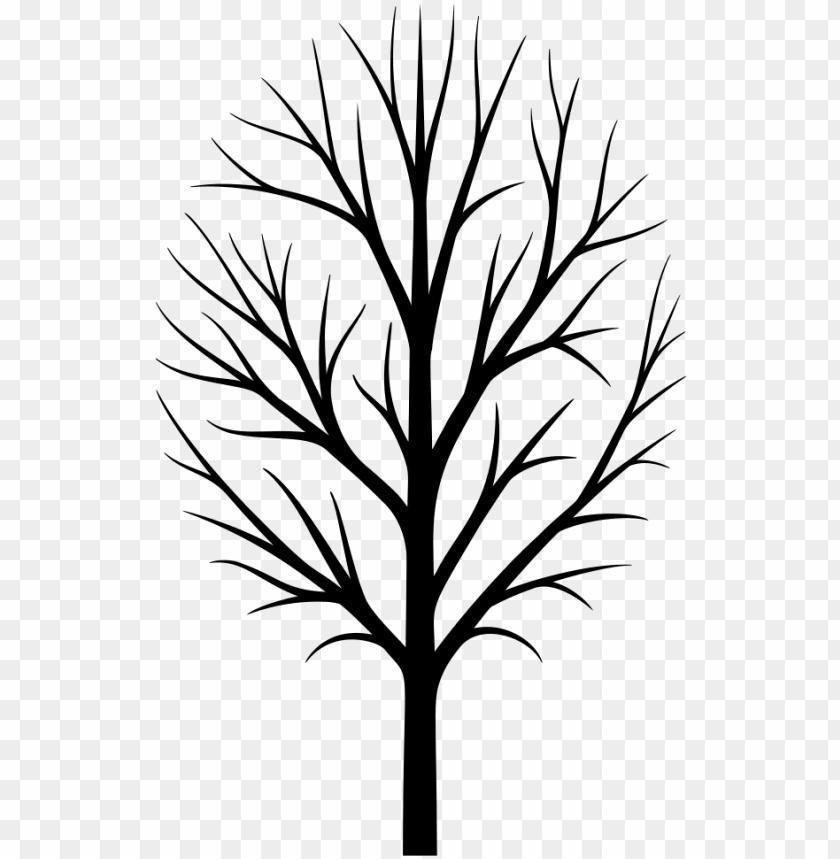 skinny tree silhouette.