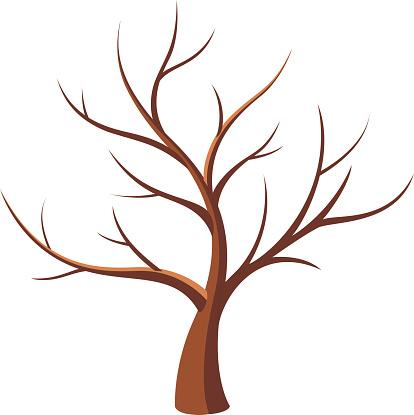 Bare Tree Trunk Clipart.