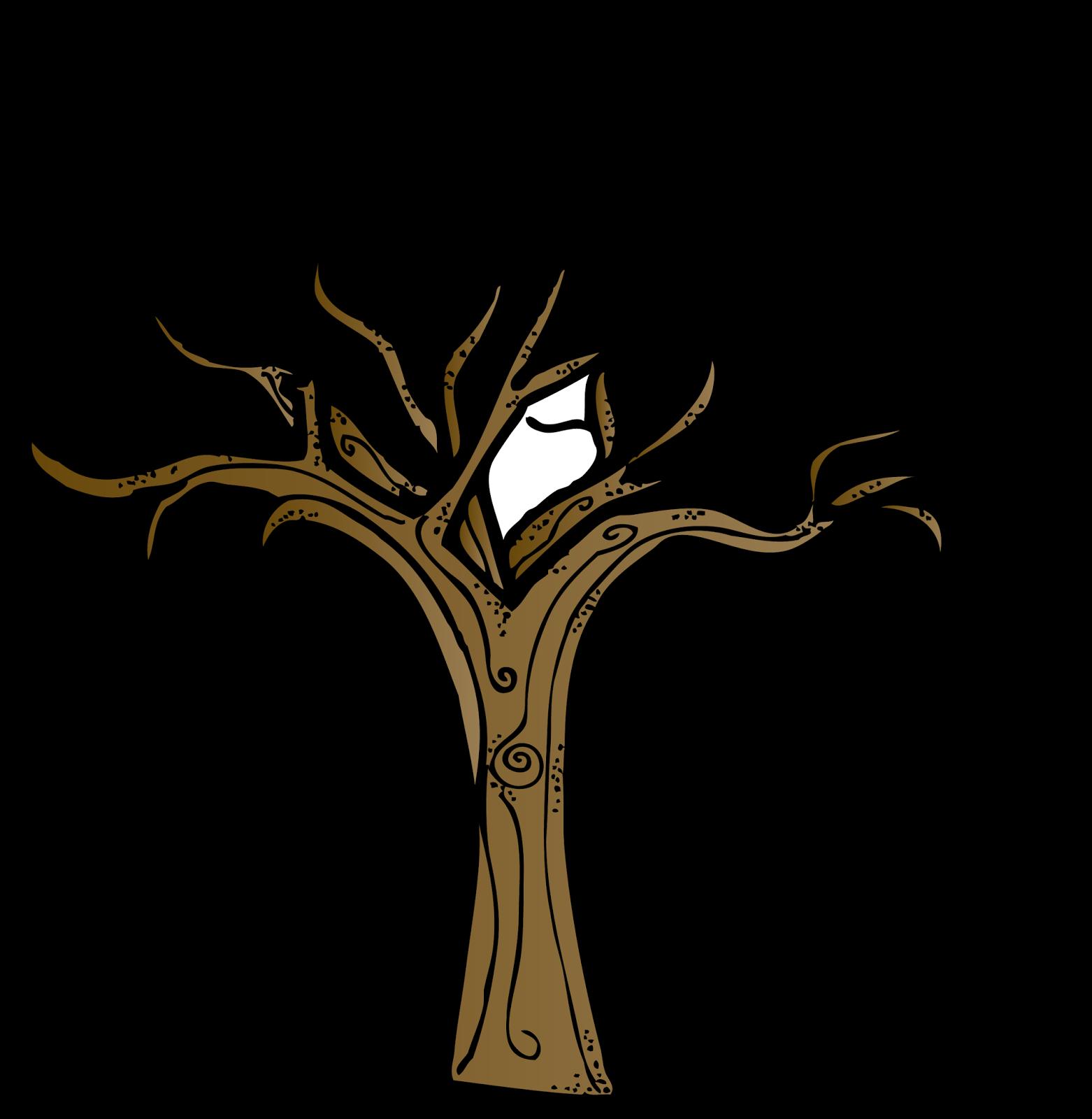 Dead Tree Trunk Clip Art.