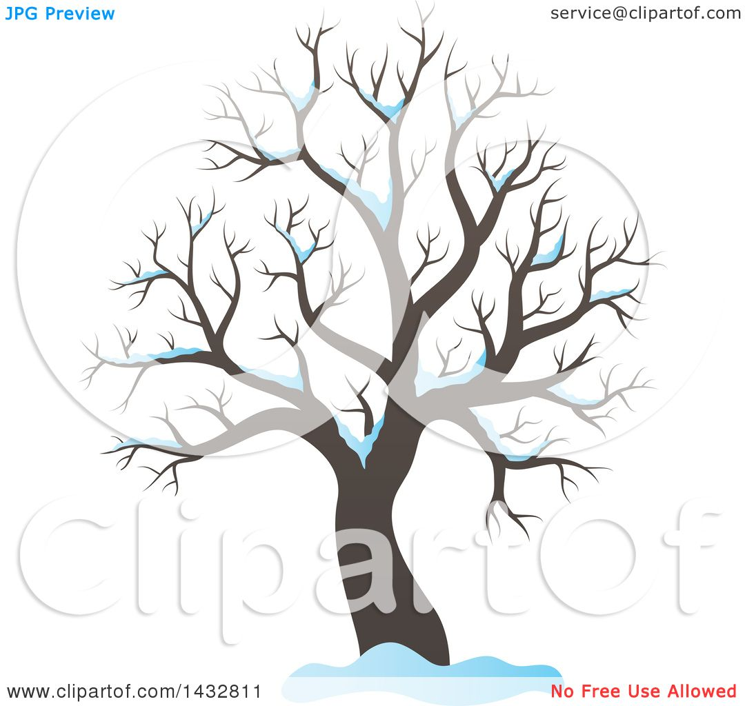 Tree With Snow Clipart.
