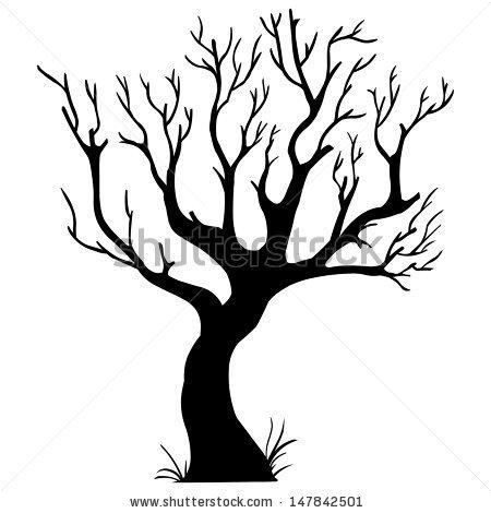 Bare oak tree clip art.