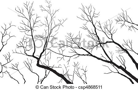 Vector Clip Art of Bare Branches.