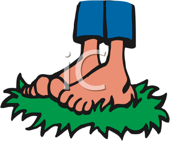 Barefoot Clipart.