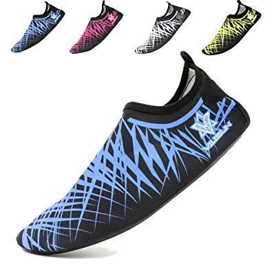 VILISUN Water Shoes Mens Womens Lightweight Quick Dry Barefoot Sports Aqua  Swim Socks for Beach,Yoga,Walking,Lake,Garden,Park,Driving,Boating.
