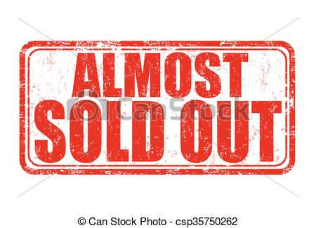 Clip Art Vector of Almost sold out stamp.