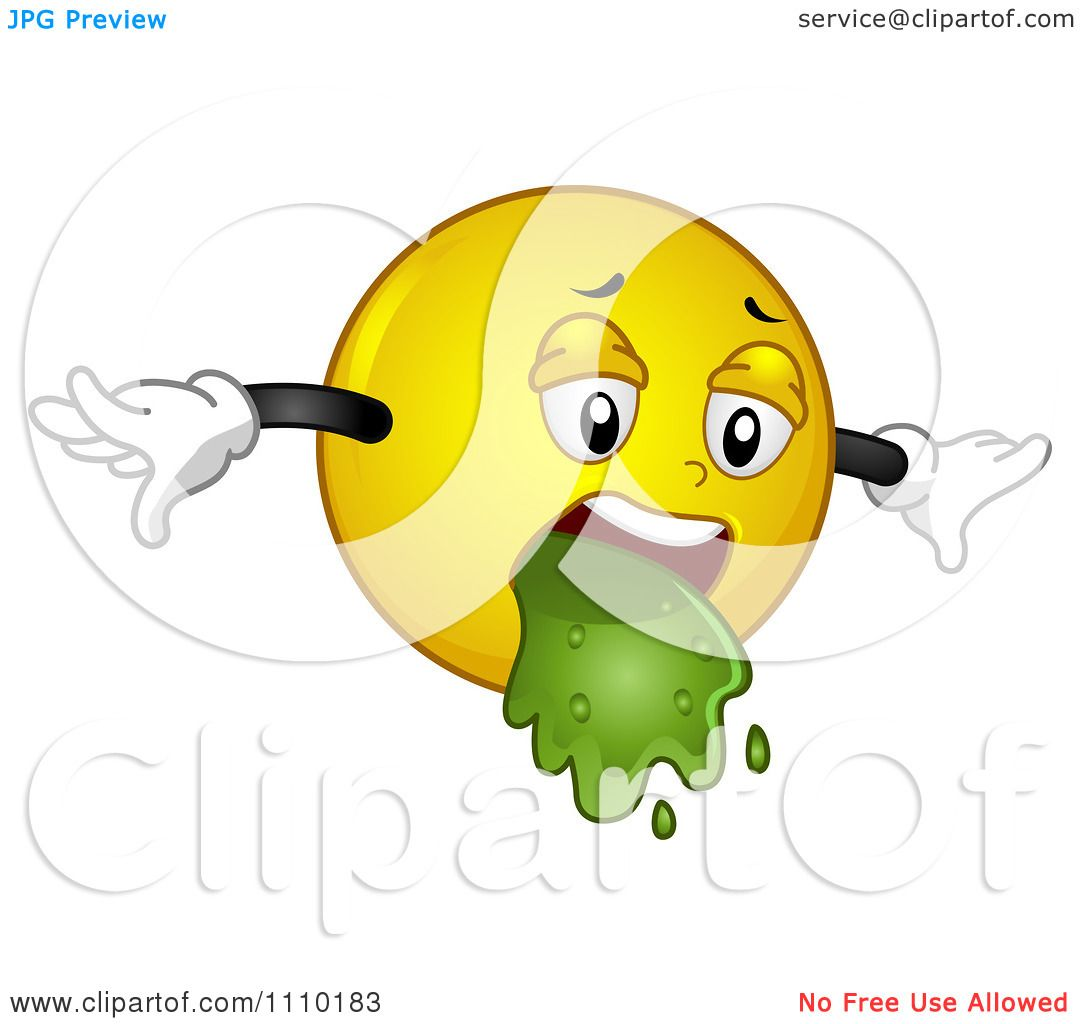 Clipart Yellow Smiley Barfing.