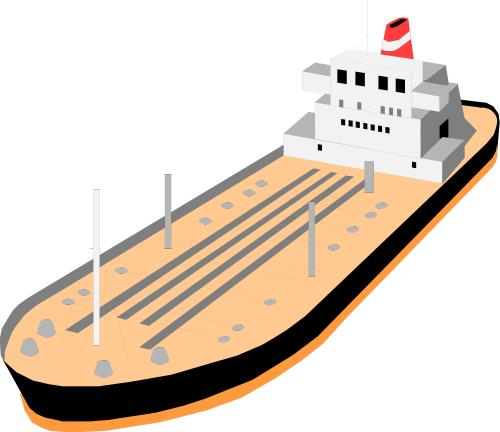 Oil barge clipart.