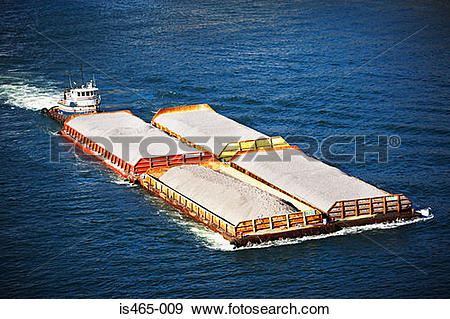 Stock Photograph of Tugboat and barges is465.