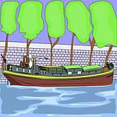 Barge Clipart EPS Images. 445 barge clip art vector illustrations.