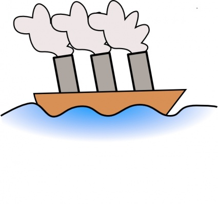 Barge clipart.