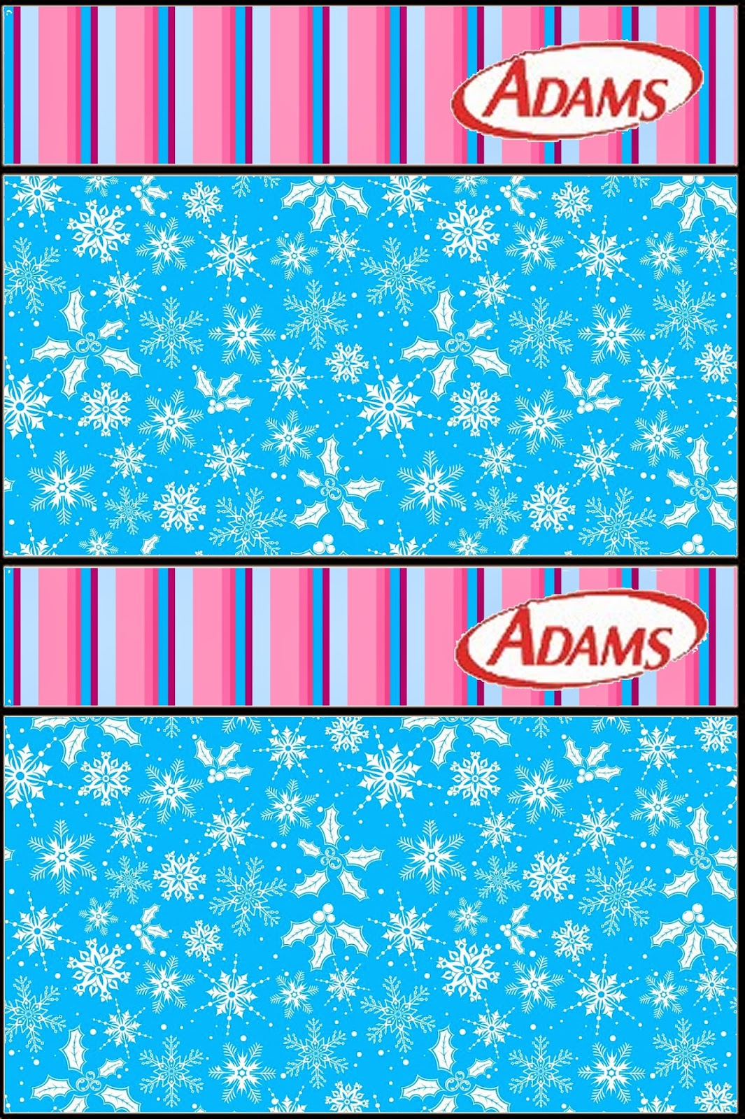 Frozen Purple and Light Blue: Free Printable Candy Bar Labels.