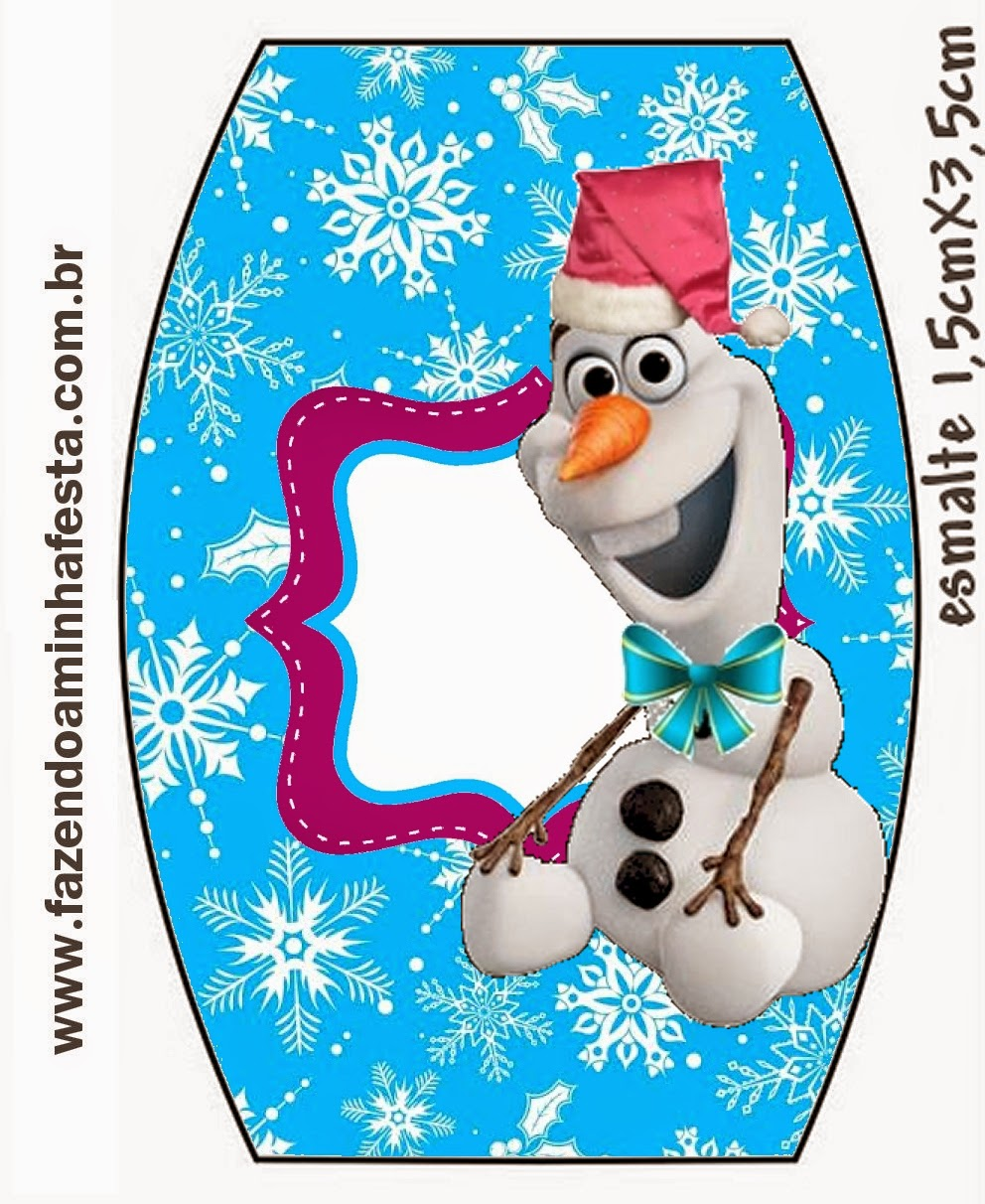 Frozen in Christmas: Free Printable Candy Bar Labels..