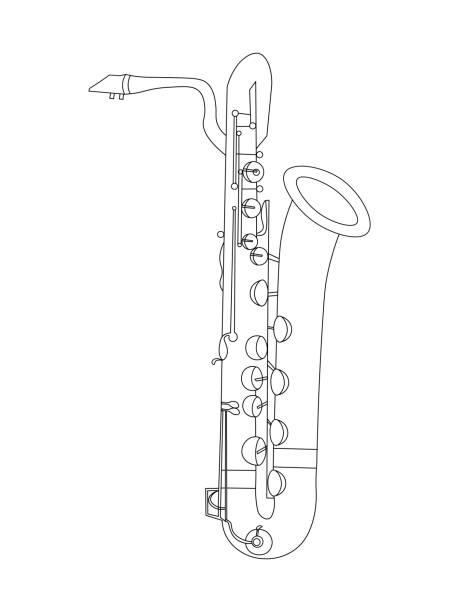 Baritone Saxophone Illustrations, Royalty.