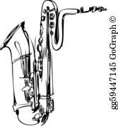 Baritone Saxophone Clip Art.