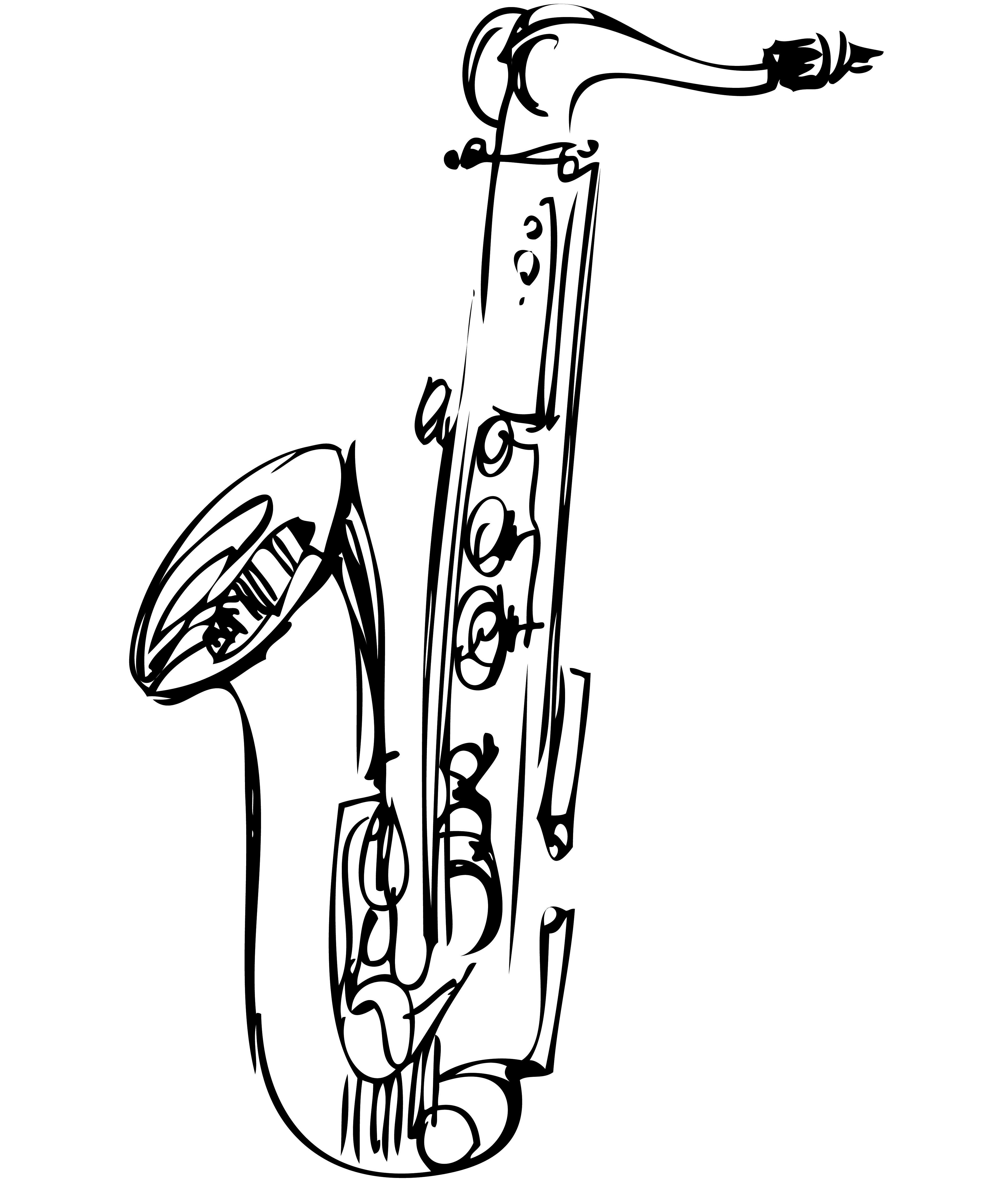 9 baritone saxophone clipart.