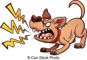 Barking dog animated clip art.