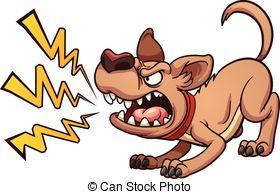Barking dog animated clip art.