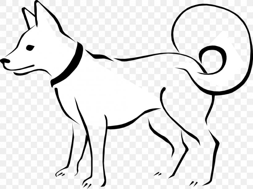 Dog Puppy Black And White Clip Art, PNG, 999x748px, Dog.