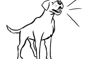 Dog Barking Clipart Black And White.