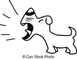 Clipart Of Dog Barking.