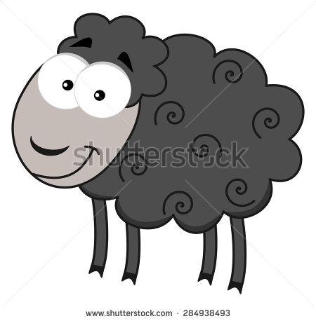 Smiling Grey Sheep Stock Vector 284938493.
