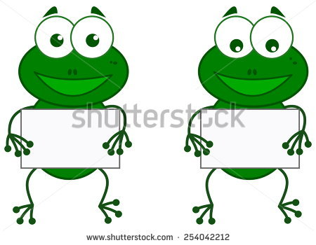 Frog Sign Stock Vector 254042212.