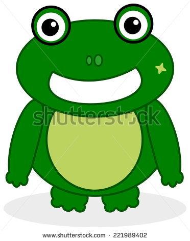Green Frog Face Stock Vector 221989402.