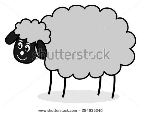 Grey Sheep Stock Vector 284935340.