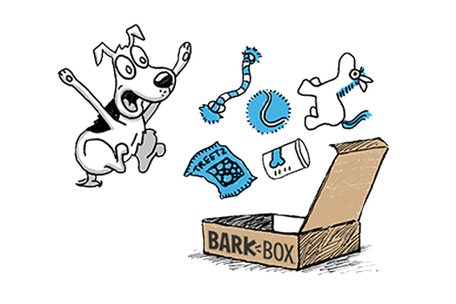 BarkBox is a monthly surprise of dog toys, treats, and.