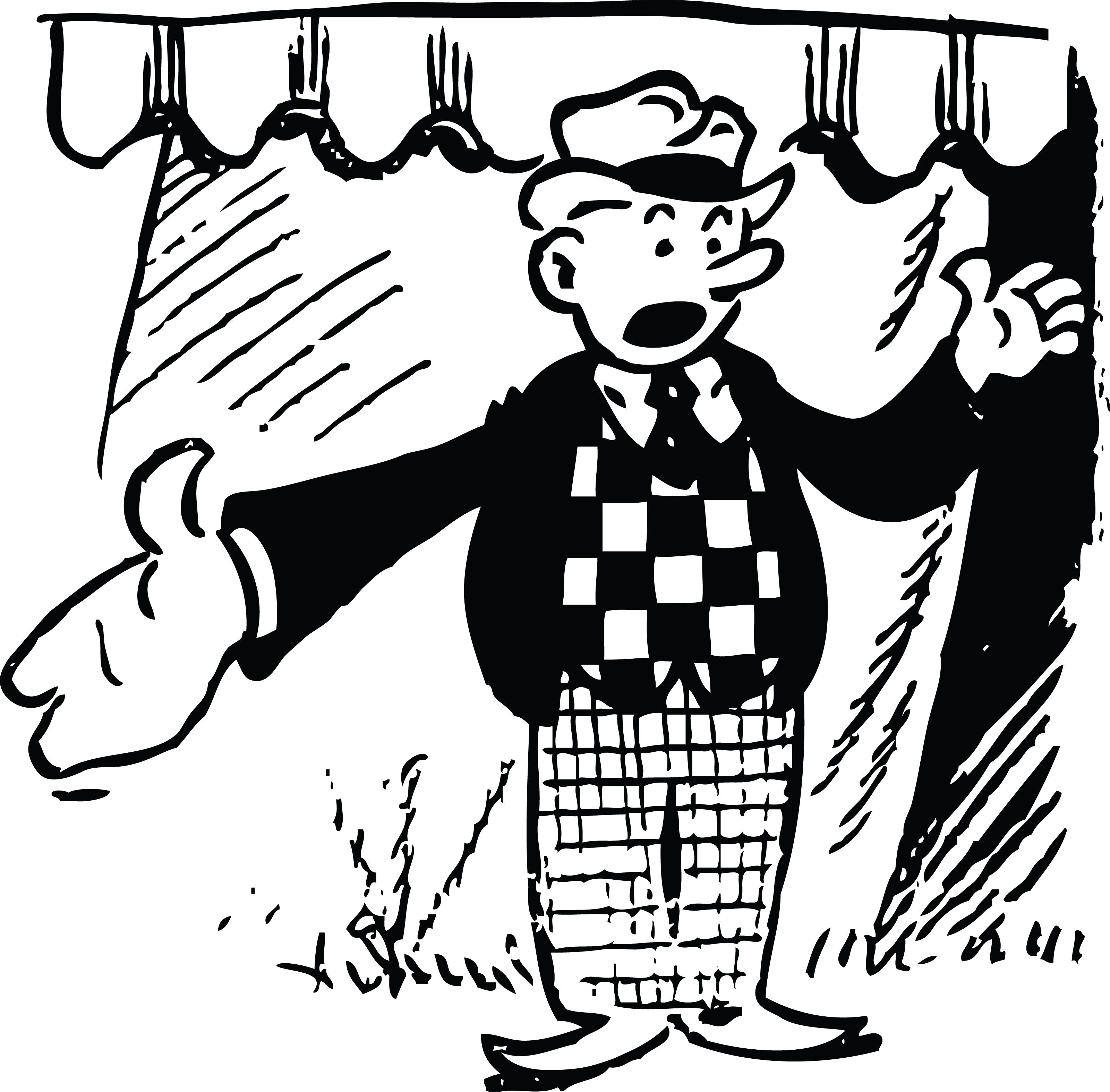 Cartoon Circus Barker.