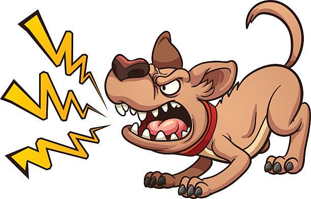 Best Barking Dog Illustrations, Royalty.
