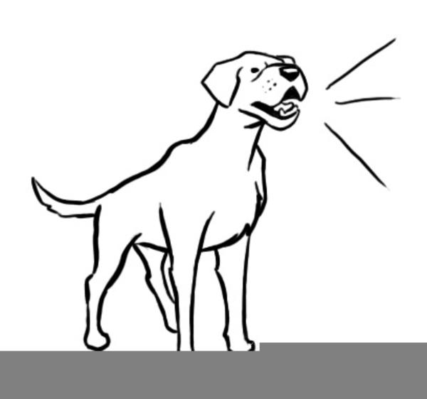 Free Clipart Dog Barking.