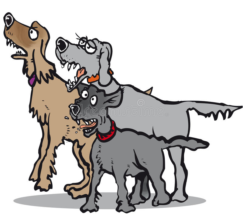 Barking Dogs Stock Illustrations.
