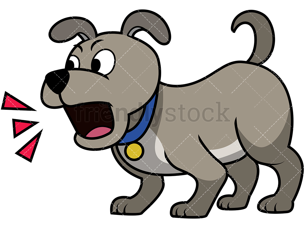 Cute Puppy Barking.