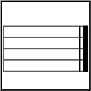 Clip Art: Music Notation: Bold Double Bar Line B&W Unlabeled.