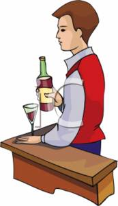 Clipart Picture of a Barman.