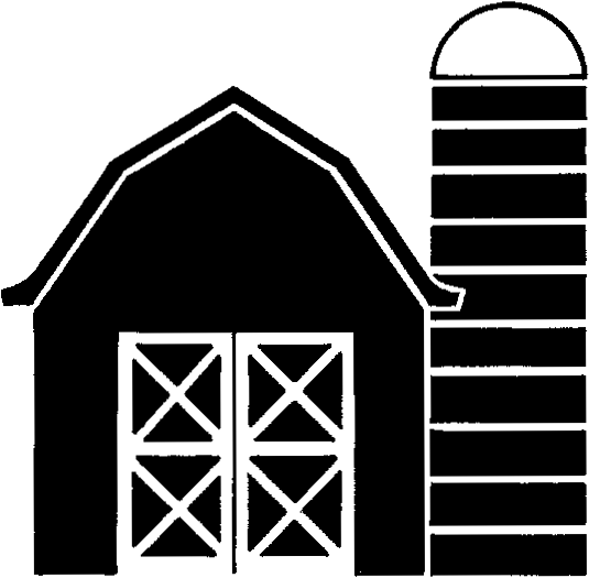 Free Barn And Silo Silhouette, Download Free Clip Art, Free.