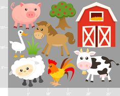 Clipart Barn Animals.