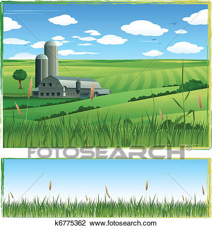 Barn illustration background Clipart.