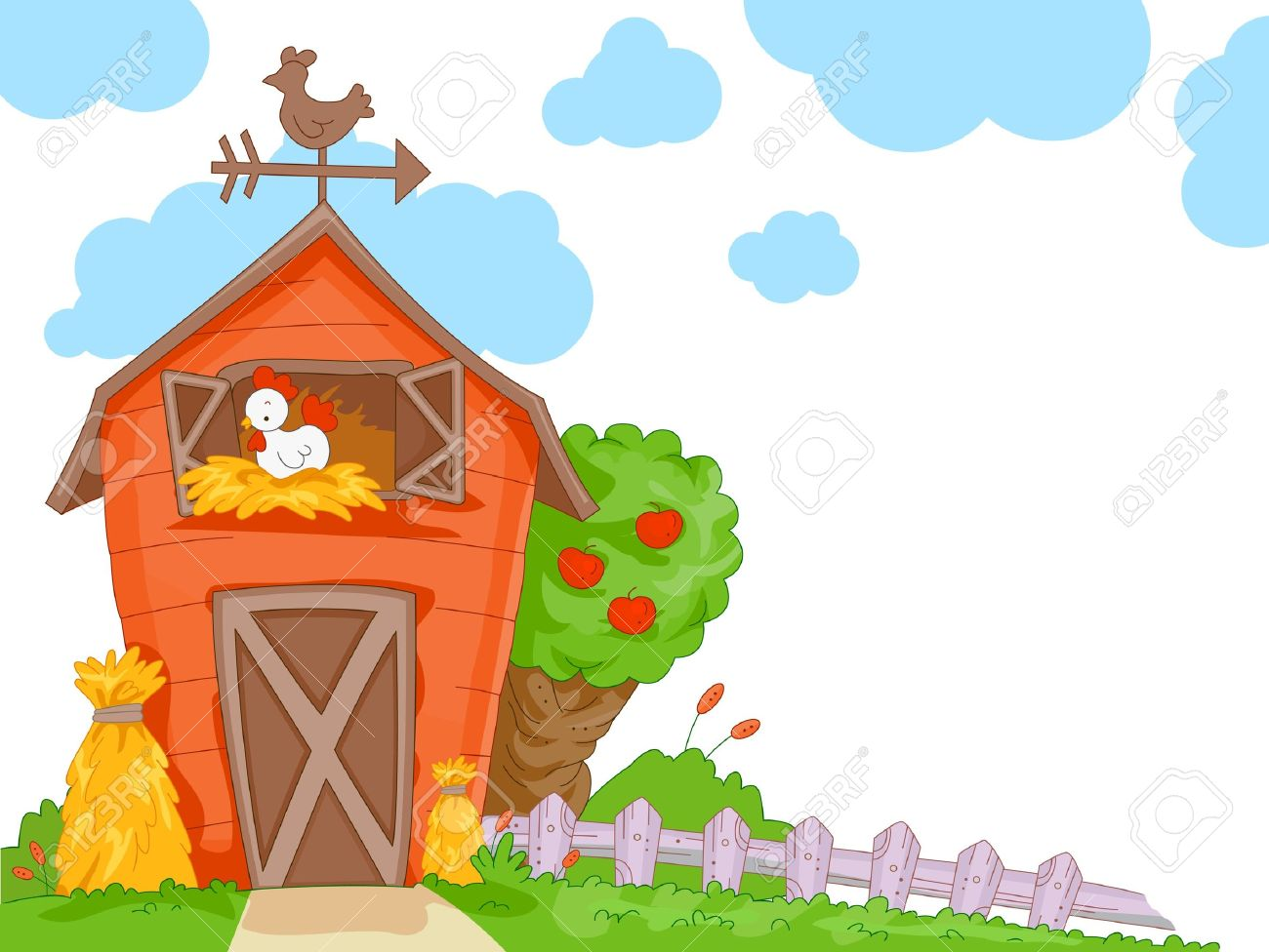 A Cute Barn With a Clear View of the Chicken Nesting Inside for...