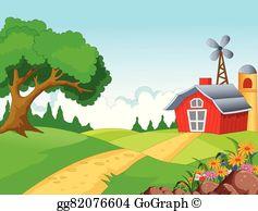 Farm Background Clip Art.