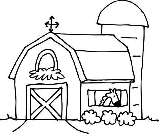 Download Free png Barn clipart black and white.